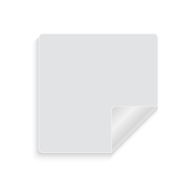 Glanzend wit papier afneembaar